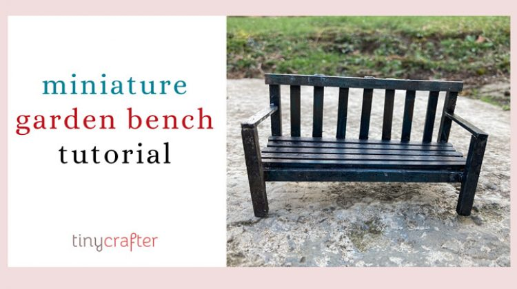 Rustic Miniature Garden Bench Diy, How To Make Miniature Outdoor Furniture