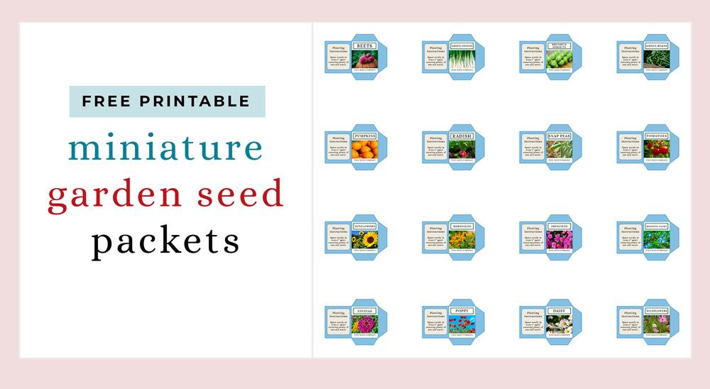 miniature garden seed packets